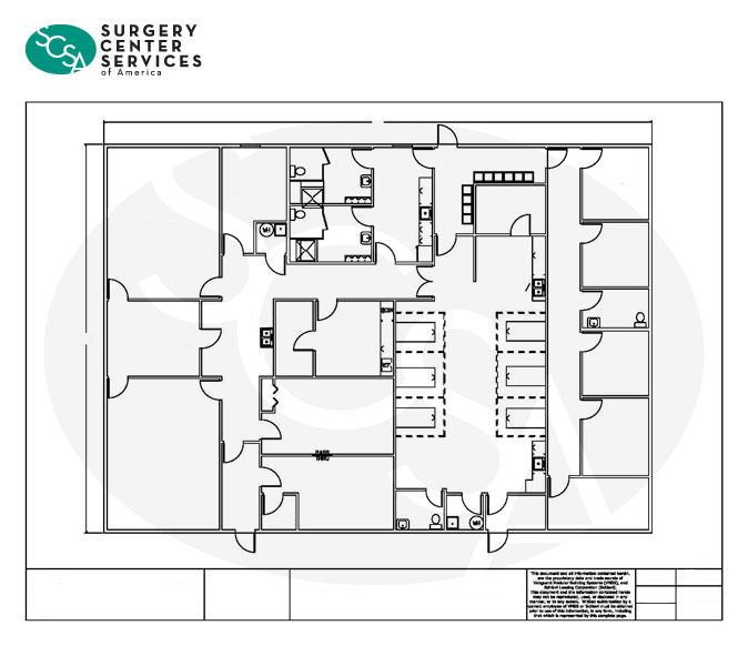 surgery center floorplan example asc design
